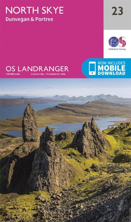 OS Landranger 23 - North Skye